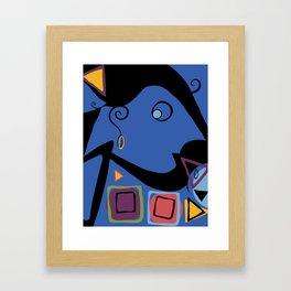 Girl talk Framed Art Print