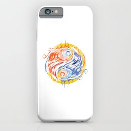 Greek Mythology Legendary Creatures Myth Bird Sun Symbol Gift Yin Yang Phoenix Graffiti iPhone Case