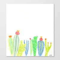 cacti Canvas Prints featuring Cacti by mirtle