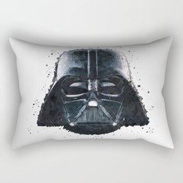 Darth Vader Geometric Digital Portrait Rectangular Pillow