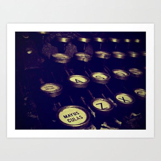 Maquina de palabras ( Machine words ) Art Print