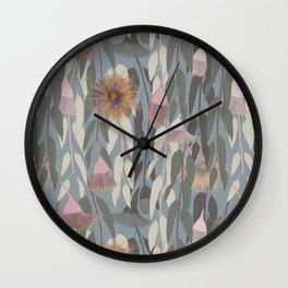 Flowering eucalyptus, australian flora Wall Clock