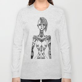 Tattoo girl Long Sleeve T-shirt