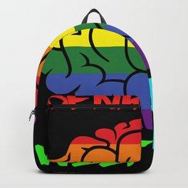 Lustiges buntes Gehirn Motiv - Denk deine Welt bunt - süßes Backpack