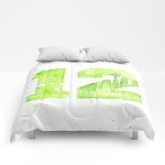 12th Man Seattle Art Comforters