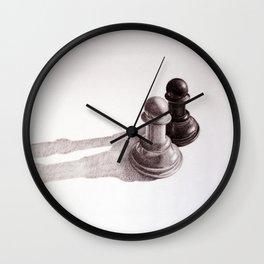 Chess Pawns Wall Clock