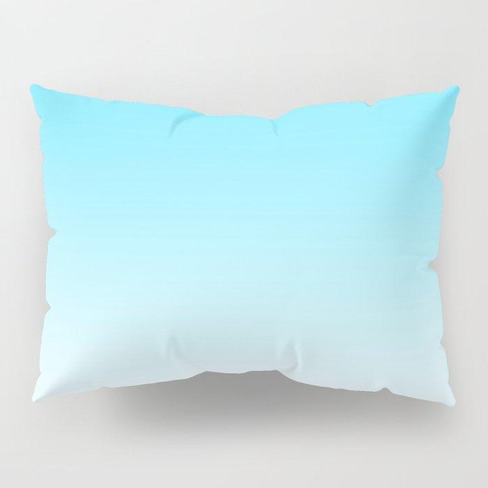Sky Blue White Ombre Pillow Sham