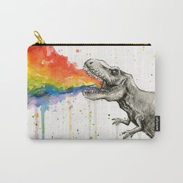 T-Rex Rainbow Puke Carry-All Pouch