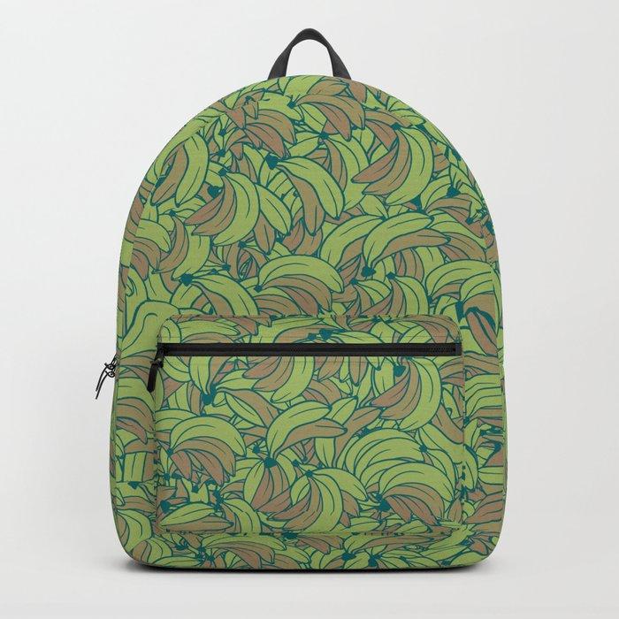 Plenty of Bananas - Green Backpack