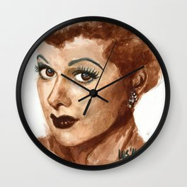 Lucille Ball watercolor painting Wall Clock