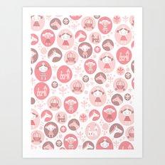Happy Princess Art Print