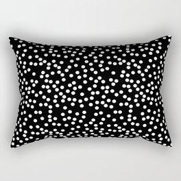Black and White Polka Dot Pattern Rectangular Pillow