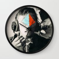 blues brothers Wall Clocks featuring BROTHERS by Hugo Barros