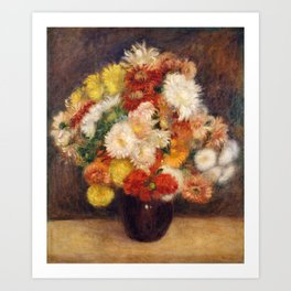 Bouquet of Chrysanthemums, Renoir Art Print