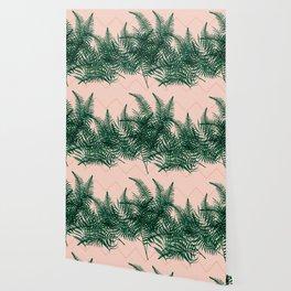 Tropical Ferns on Pink #society6 #decor #buyart Wallpaper
