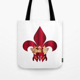 Fleur de Lis Symbol Tote Bag
