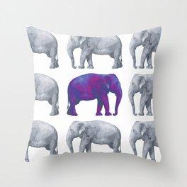 Elephants II Throw Pillow