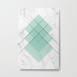 Marble Scandinavian Design Geometric Squares Metal Print