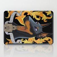 doberman iPad Cases featuring doberman - Vera by PaperTigress
