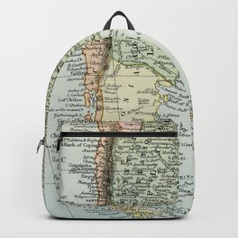 Vintage Map of the South of America Backpack