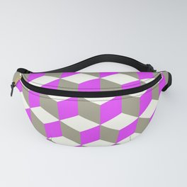 Diamond Repeating Pattern In Violet Purple Grey Fanny Pack