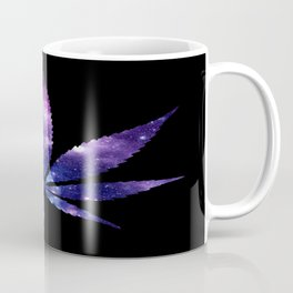 Weed : High Times purple blue Galaxy Coffee Mug