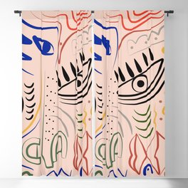 Angry mask Blackout Curtain
