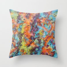 Playing colors Throw Pillow