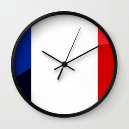 France Flag Circle Wall Clock