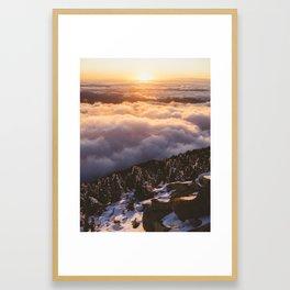 Mount Pilchuck Sunset | Washington | John Hill Photograph Framed Art Print