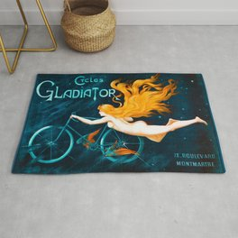 Cycles Gladiator Vintage French Bicycle Rug