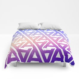 """Typographic Pattern """"A"""", Color Comforters"""