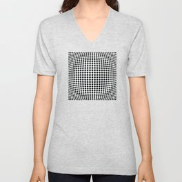 op art - dot bulge Unisex V-Neck