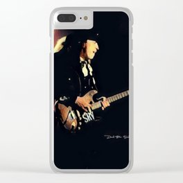 Stevie Ray Vaughan - Graphic 2 Clear iPhone Case