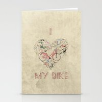 brompton Stationery Cards featuring I Love My Bike by Wyatt Design