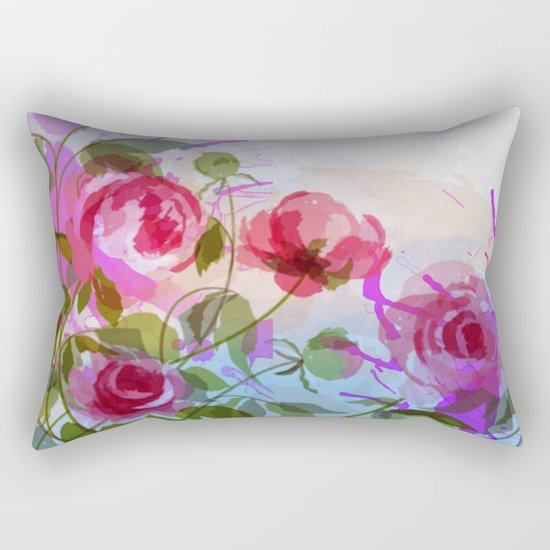 joyful flowers Rectangular Pillow