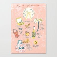 Trashy Birthday party @ Coney-Island Canvas Print