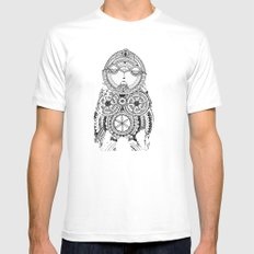 A wise old owl sat on an oak White Mens Fitted Tee MEDIUM