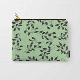 Petite Green Floral Carry-All Pouch