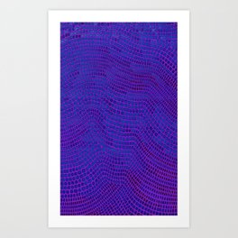 Shagreen Purple Berry Art Print