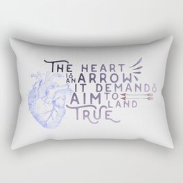 """The heart is an arrow, it demands aim to land true"" quote from Six of Crows by Leigh Bardugo Rectangular Pillow"
