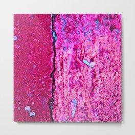 Neon Pink Road Metal Print