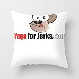 Yoga for Jerks.com Small monkey Throw Pillow