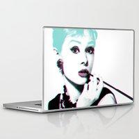 hepburn Laptop & iPad Skins featuring AUDREY HEPBURN by Nuk_