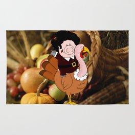 Thanksgiving turkeys Rug