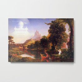 Voyage of Life: No. 2 of 4 Youth by Thomas Cole Metal Print