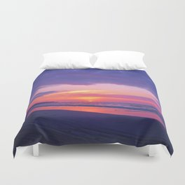 Broken sunset by #Bizzartino Duvet Cover