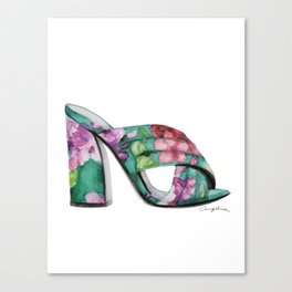 Floral Mule Canvas Print