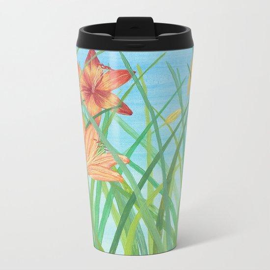 Lilly Garden Metal Travel Mug
