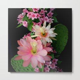 Cacti, Pink And Paler Metal Print